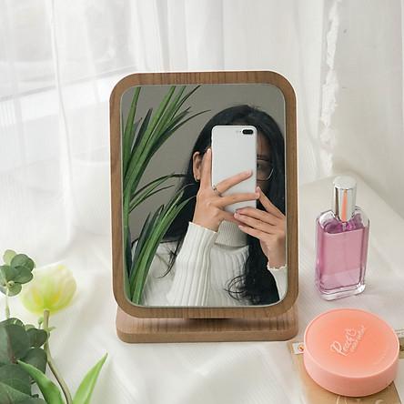 Gương gỗ trang điểm để bàn BEYOURs Phấn mirror nội thất kiểu hàn lắp ráp