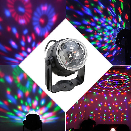 Car Sound Activated 3W Rgb Led Mini Crystal Magic Rotating Ball Effect Led Stage Light For Ktv Chrtmas Party Wedding Dplay Club Bar