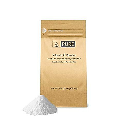 Vitamin C Powder (2 lb.) by Pure Organic Ingredients, Eco-Friendly Packaging, L-Ascorbic Acid, Antioxidant, Boost Immune System, DIY Skin Care