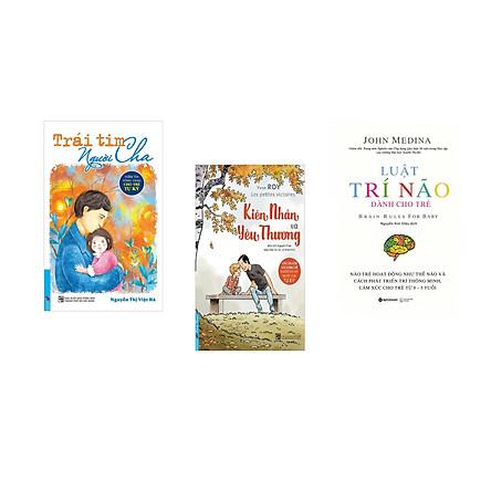 Combo 3 cuốn sách: Trái Tim Người Cha - Niềm Tin Vững Vàng Cho Trẻ Tự Kỷ + Kiên Nhẫn Và Yêu Thương + Luật Trí Não Dành Cho Trẻ