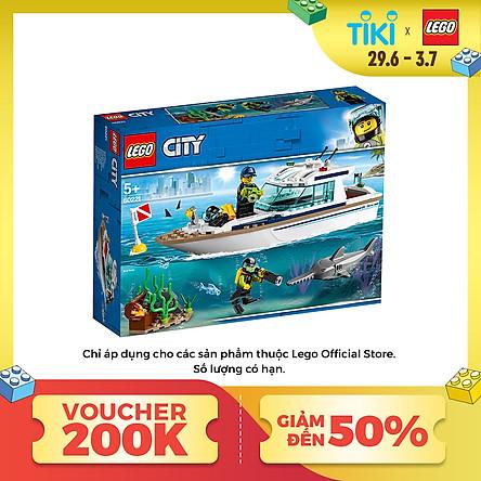 Đồ Chơi Lắp Ghép Thuyền Buồm Lặn Biển Lego City 60221