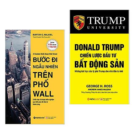 Combo Sách Bài Học Kinh Doanh Hay : Bước Đi Ngẫu Nhiên Trên Phố Wall + Donald Trump Chiến Lược Đầu Tư Bất Động Sản ( Tặng Kèm Postcard HAPPY LIFE )