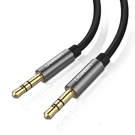 Dây Audio 3.5mm tròn mạ vàng 24K, TPE cao cấp dài 1M UGREEN AV119 10733 - Hàng Chính Hãng