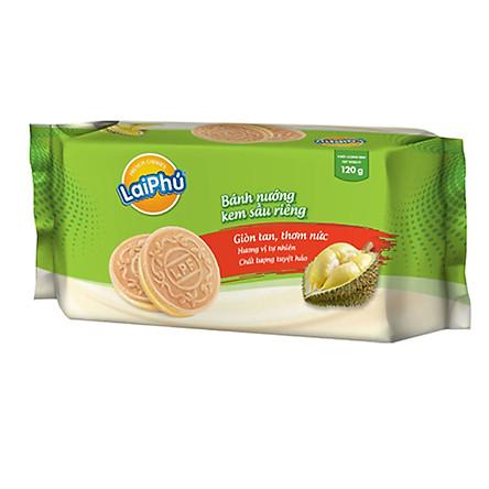 Bánh cookie Lai Phú kem Sầu Riêng 120g