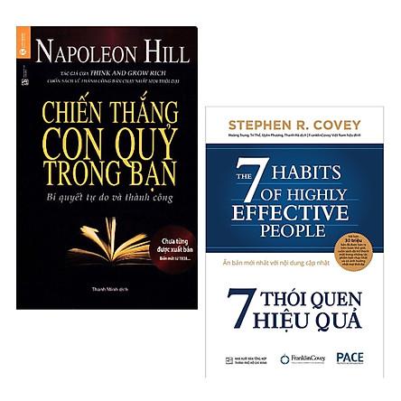 Combo 2 Cuốn Sách Tư Duy - Kỹ Năng Sống Làm Thay Đổi Cuộc Đời Bạn: 7 Thói Quen Hiệu Quả (Tái Bản) + Chiến Thắng Con Quỷ Trong Bạn / Tặng Kèm Bookmark Happy Life