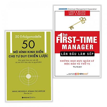 Combo sách kinh doanh hay :  50 mô hình kinh điển cho tư duy chiến lược + The first time manager lần đầu làm sếp - Tặng kèm bookmark thiết kế