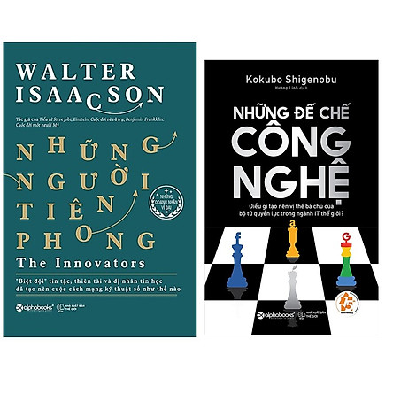 Combo Sách Công Nghệ : Những Người Tiên Phong (The Innovators) + Những Đế Chế Công Nghệ