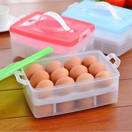 Khay đựng trứng 2 tầng đa năng