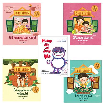 Bộ 4 cuốn Ehon về gia đình: Nhà Mình Mát Lành Vì Có Bà - Hướng Dẫn Sử Dụng Mẹ - Nhà Mình Có Em Rồi - Bố Mẹ Giận Nhau Để Con Lo - Tạm Biệt Cơn Giận