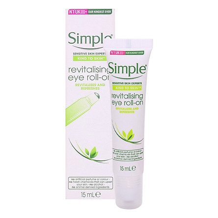 Lăn Dưỡng Mắt Simple Kind To Skin Revitalising Eye Roll On 15ml