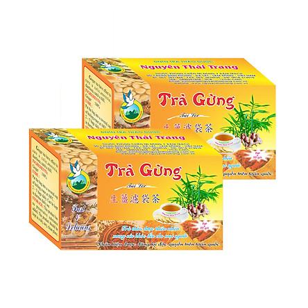 Combo 5 Hộp Trà Gừng (Hộp 20 Túi Lọc X 2gr) - Nguyên Thái Trang – Thảo Dược Thiên Nhiên – Tốt Cho Sức Khỏe