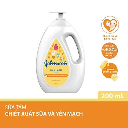 Sữa tắm Johnson's Baby chứa sữa và yến mạch (1000ml)