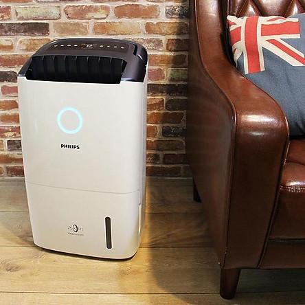 Máy hút ẩm cao cấp Philips DE5206/00 cảm biến thông minh lọc không khí trong nhà - Hàng chính hãng