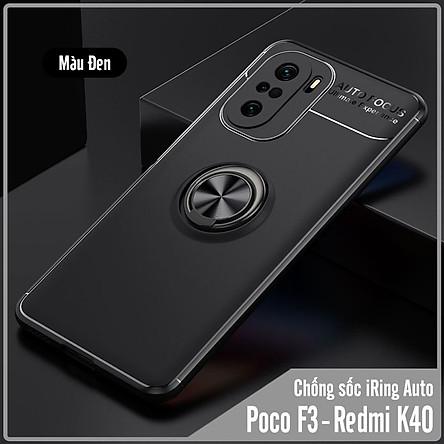 Ốp lưng cho Xiaomi Poco F3 - Redmi K40 chống sốc iRing Auto Focus - Hàng nhập khẩu