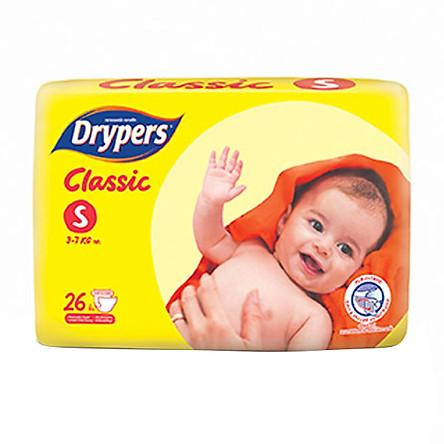 Tã Dán Drypers Classic Gói Trung S26 (26 Miếng)