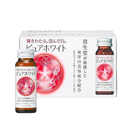 Thực phẩm chức năng Nước uống Collagen Shiseido Pure White Nhật Bản tăng cường trắng da ngăn ngừa lão hóa