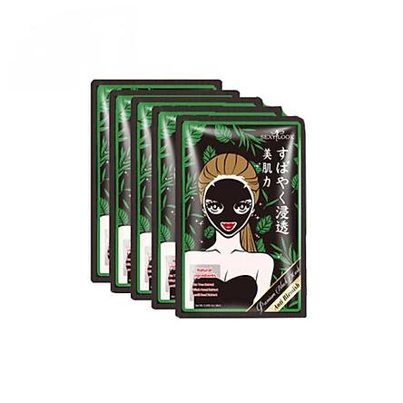 Combo 5 miếng mặt nạ đen Tràm Trà kiểm soát dầu và mụn Sexylook Tea Tree Anti Blemish (Nhập khẩu)