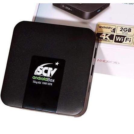 (TẶNG TK XEM 200 KÊNH TRUYỀN HÌNH BẢN QUYỀN HD ĐẶC SÁC) SCTV Android Box Cao cấp – Tặng Remote Voice Search – Giải trí không giới hạn, xem truyền hình cực đỉnh – Hàng chính hãng