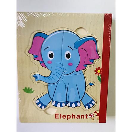 Sách gỗ ghép hình - Combo 2 cuốn sách gỗ ghép hình chủ đề PTGT, động vật cho bé 1 tuổi G05