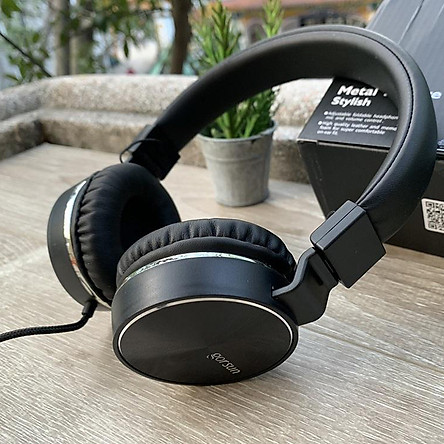 Tai nghe chụp tai có dây 3.5mm kèm mic cho âm thanh chất lượng cao nghe nhạc xem phim chơi game thỏa thích