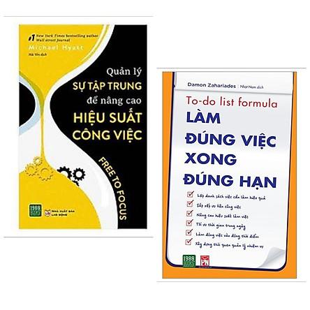 Combo 2 cuốn: Quản Lý Sự Tập Trung Để Nâng Cao Hiệu Suất Công Việc + Làm Đúng Việc Xong Đúng Hạn / Bộ sách cải thiện hiệu quả công việc