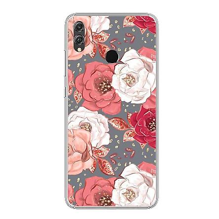 Ốp lưng dẻo cho điện thoại Huawei Honor 8X - 0331 ROSE04 - Hàng Chính Hãng
