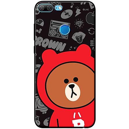 Ốp lưng dành cho  Honor 9 Lite  mẫu Gấu nâu áo khoác đỏ