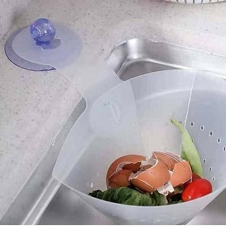Bộ 2 Phễu lọc rác thông minh bồn rửa chén có thể vệ sinh và tái sử dụng nhiều lần - tặng cột tóc quả bơ