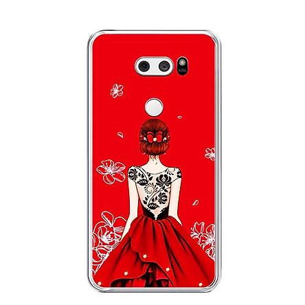 Ốp lưng dẻo cho điện thoại LG V30 - 0076 GIRL05 - Hàng Chính Hãng