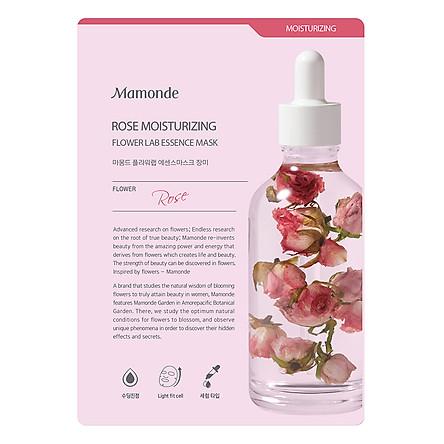 Mặt Nạ Giấy Cấp Ẩm Cho Da Từ Hoa Hồng Mamonde Rose Moisturizing Flower Lab Essence Mask 25ml - 110651105