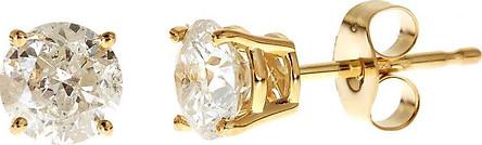 Bông tai vàng non nụ đá trắng cho nữ (vàng tây thấp tuổi) ký hiệu KHT trẻ trung