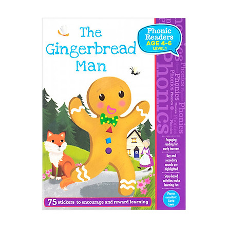 Phonic Readers Age 4-6 Level 1: The Gingerbread Man