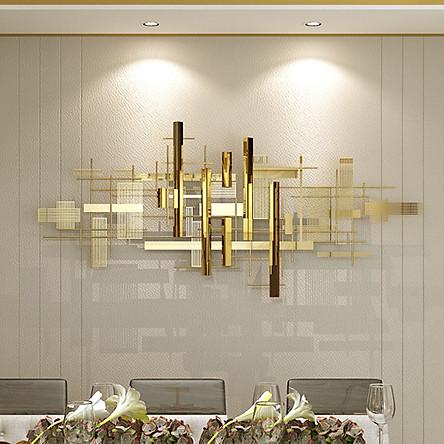 Phù điêu trang trí trừu tượng mạ vàng sáng bóng GZ233 1,5m