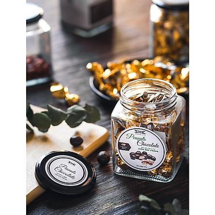Socola Viên ĐẬU PHỘNG 90G SHE Chocolate -Thích hợp ăn vặt văn phòng, làm quà tặng - Đặc biệt giòn tan