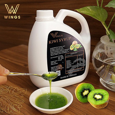 Si rô hương vị kiwi Wings dùng pha chế Coffee, Iced tea, Milkshakes, Cocktails, Soda ... trọng lượng 2,5 kg