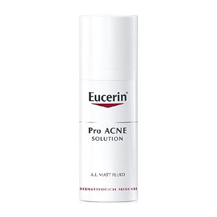 Kem Kiểm Soát Dầu cho Da Mụn Eucerin ProACNE Solution Matt Fluid (50 ml)