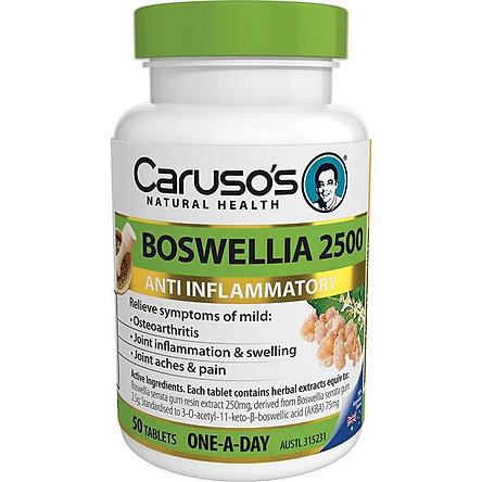 Carusos Natural Health Boswellia 2500 50 Tablets