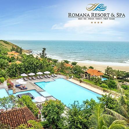 Romana Resort 4* Phan Thiết 2N1Đ - Buffet Sáng, Hồ Bơi, Bãi Biển Riêng, Phòng Hướng Biển Dành Cho 02 Người