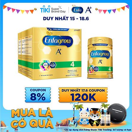 Combo 2 Lon Sữa Bột Enfagrow A+ 4 2.2kg Tặng Lon Sữa Bột Enfagrow A+ 4 830g
