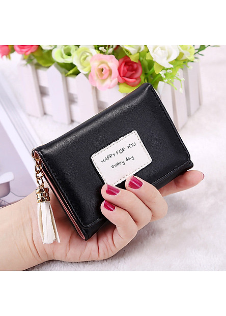 Bóp ví nữ đựng tiền mini gấp 3 bỏ túi, da PU mềm mại, nhiều ngăn chứa thẻ ATM và tiền tiện dụng dùng cho nữ cầm tay