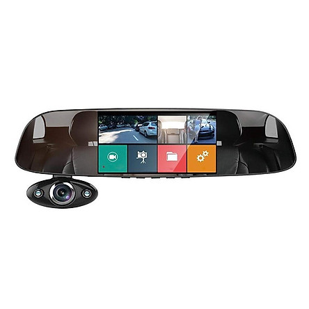 Camera Hành Trình Gương Anytek B33 Full HD - Quay Trước Trong và Sau Xe - Hàng Nhập Khẩu