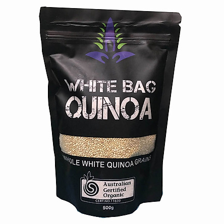 Hạt diêm mạch WHITE BAG QUINOA 500gram ( Hạt màu trắng )