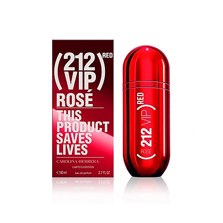 Nước Hoa Nữ Carolina Herrera 212 VIP Rose Red 80ml full Limited Edition