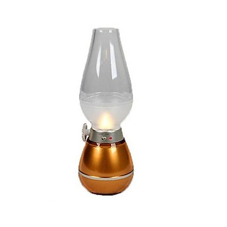 Đèn bàn thờ sạc điện hình đèn dầu