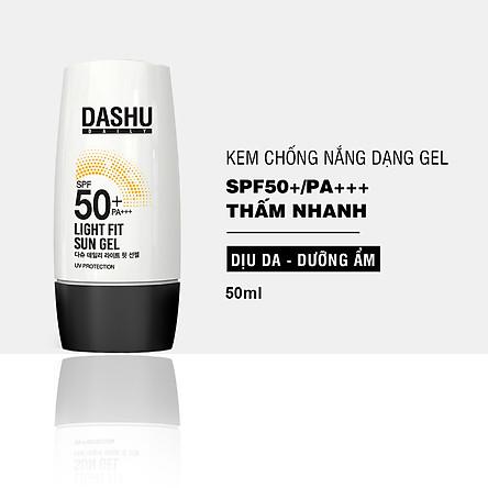 Kem chống nắng dạng Gel DASHU Daily Light Fit Sun Gel SPF50+ PA+++ 50ml Bảo vệ toàn diện Thấm nhanh không nhờn rít JN-KCN01