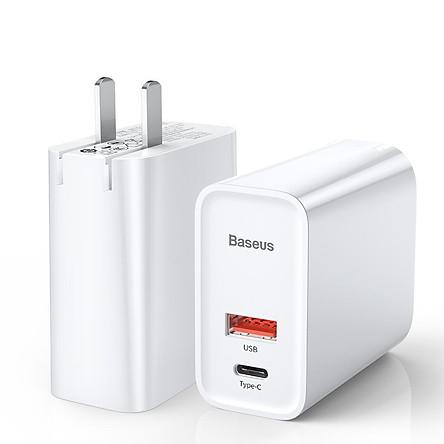 Adapter Sạc 2 Cổng 30W Baseus Tích Hợp Cổng USB Type-C Hỗ Trợ Sạc Nhanh QC 3.0 Và Power Delivery PD 3.0 - Hàng Chính Hãng