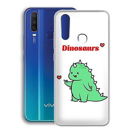 Ốp lưng dẻo cho điện thoại Vivo Y12 - 01222 7877 DINOSAURS04 - Khủng long dễ thương - Hàng Chính Hãng