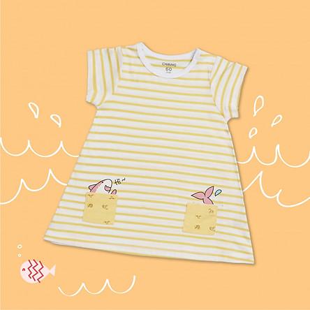 Váy Baby Shark kẻ vàng CHAANG VIETNAM