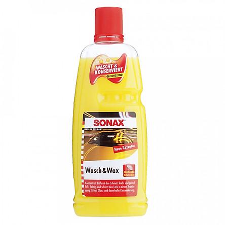 Nước rửa xe và wax bóng sơn kết hợp Sonax Wash & Wax 313341 1000ml