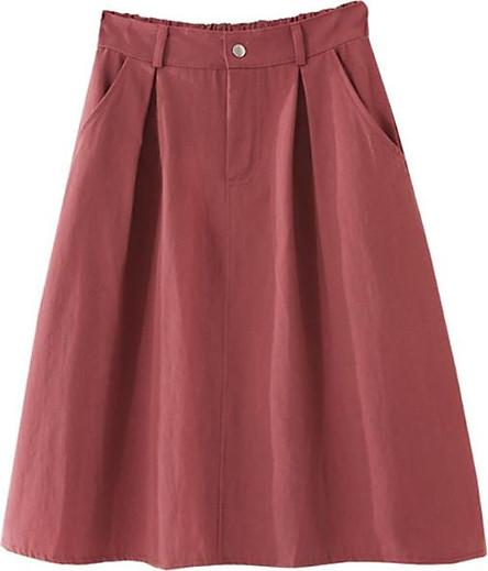 Chân váy nữ thời trang chữ A túi chéo vải kaki cao cấp free size VAY04